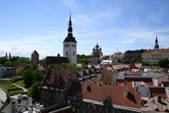 Tallinn - capital of Estonia. View of Tallinn oldtown from tower of the City Hall Stock Photo