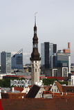 Tallinn - capital of Estonia. View old and modern buildings of Tallinn Royalty Free Stock Image