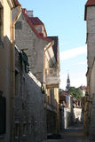 Tallinn - capital of Estonia. Street in Tallinn oldtown Stock Photography