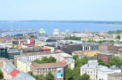 Tallinn, the capital of Estonia from a bird`s eye view royalty free stock photography