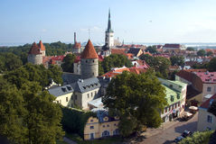 Tallinn. Tallinn - the capital of Estonia . Located on the shores of the Baltic sea, at the entrance to the Bay of the Gulf of Finland Stock Photography