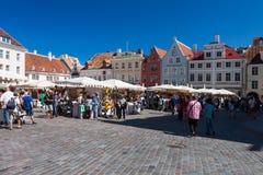 Tallinn central market Stock Photos