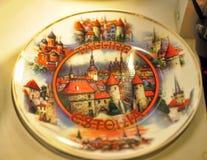 Tallinn ceramic souvenir plate Stock Photos