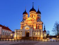 tallinn Chiesa del Alexander Nevsky Fotografie Stock