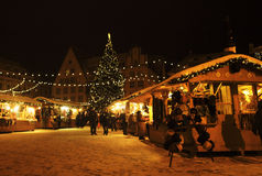 Tallinn Christmas market Stock Images