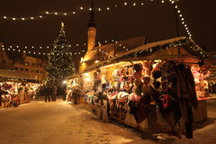 Tallinn Christmas market Royalty Free Stock Photo