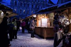 Tallinn Christmas market Stock Photos