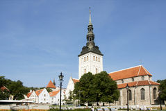 Tallinn. The Church of St. Nicholas. Royalty Free Stock Photos