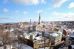 Tallinn city. Estonia. Capital of Estonia, Tallinn is famous for its World Heritage old town walls and cobbled streets. The old town is surrounded by stone walls Royalty Free Stock Photo