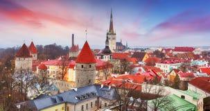 Tallinn city, Estonia at sunrise Stock Image