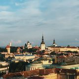 Tallinn city, Estonia - travel in Europe concept stock photography