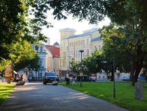 Tallinn city morning life Royalty Free Stock Images
