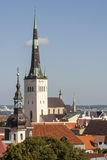 Tallinn City. St.Olaf Church,View From Radisson Hotel,Estonia Royalty Free Stock Photo