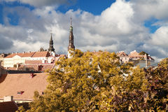 Tallinn city street in autumn Stock Photo