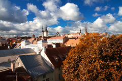 Tallinn city street in autumn Royalty Free Stock Photos