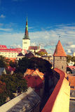 Tallinn city street in autumn Royalty Free Stock Photography