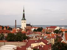 Tallinn city view Stock Photo