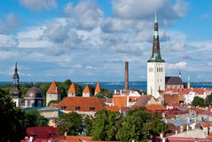 Tallinn city view Stock Photo