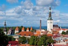 Tallinn city view. Tallinn old city panoramic view Stock Photo
