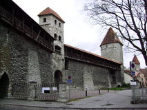 Tallinn City Wall Estonia Royalty Free Stock Image