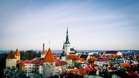 Tallinn Cityscape Skyline Estonia Eastern Europe Baltic Stock Image
