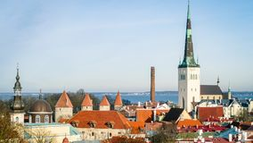 Tallinn Cityscape Skyline Estonia Eastern Europe Baltic Royalty Free Stock Image