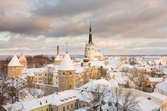 Tallinn, ciudad vieja. Estonia Fotos de archivo libres de regalías