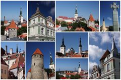 Tallinn collage Stock Image