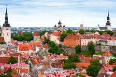 Tallinn de acima, Estónia Foto de Stock Royalty Free