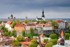 Tallinn. De heuvel van Toompea Stock Fotografie