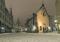 Tallinn in de winter royalty-vrije stock afbeelding