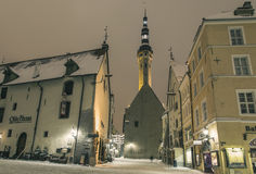 Tallinn in de winter royalty-vrije stock foto