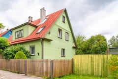Tallinn en Estonia, casa fotografía de archivo libre de regalías