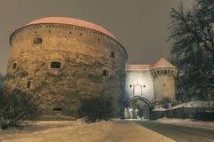 Tallinn en hiver Photos stock