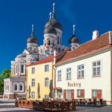 Tallinn, Estônia, a catedral foto de stock