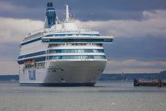 TALLINN, ESTÔNIA - 27 DE JUNHO DE 2018: Tallink ferries Silja Europa imagens de stock royalty free