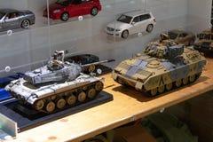 TALLINN, Estônia - 26 DE MAIO DE 2018: Modelo diminuto Exhibition de Tallinn fotografia de stock