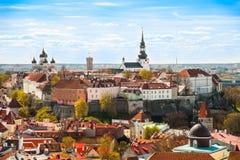 Tallinn, Estônia na cidade velha Fotos de Stock