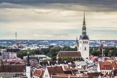 Tallinn, Estônia na cidade velha Imagens de Stock