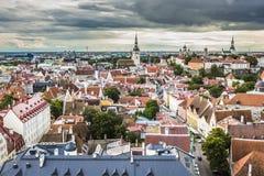 Tallinn, Estônia na cidade velha Fotografia de Stock
