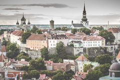 Tallinn, Estônia na cidade velha Imagem de Stock
