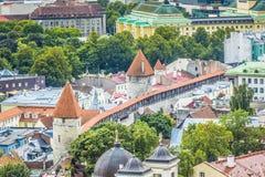 Tallinn, Estônia na cidade velha Imagens de Stock Royalty Free