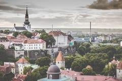 Tallinn, Estônia na cidade velha Fotos de Stock Royalty Free