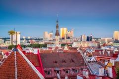 Tallinn Estland horisont Royaltyfri Bild
