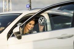 Tallinn, Estland - 26. Mai 2016: Darstellung von Volkswagen Tiguan Lizenzfreie Stockbilder