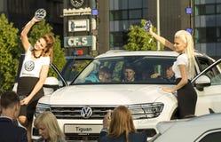 Tallinn, Estland - 26. Mai 2016: Darstellung von Volkswagen Tiguan Stockbild