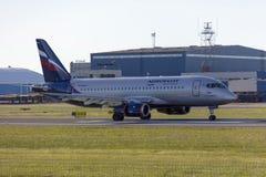 Tallinn, Estland - 31. Mai 2018: RA-89064 Aeroflot - russische Luft Lizenzfreies Stockbild