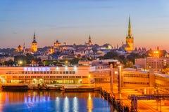 Tallinn Estland pir Arkivbilder
