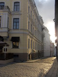 Tallinn Estonia. Summer morning in the street old city Royalty Free Stock Image