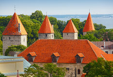 Tallinn Estonia. Tallinn, capital of Estonia scene with orange red tiled roofs. Tallinn - capital of Estonia.  The Tallinn Old Town became a UNESCO World Royalty Free Stock Image
